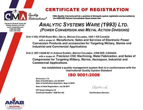Press Release – Analytic Systems Certified to ISO 9001:2008 Quality Standard
